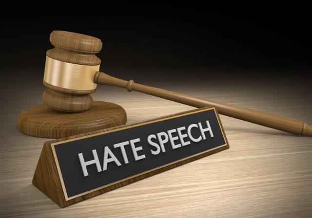 Laws against hate speech and other inciteful language, 3D rendering