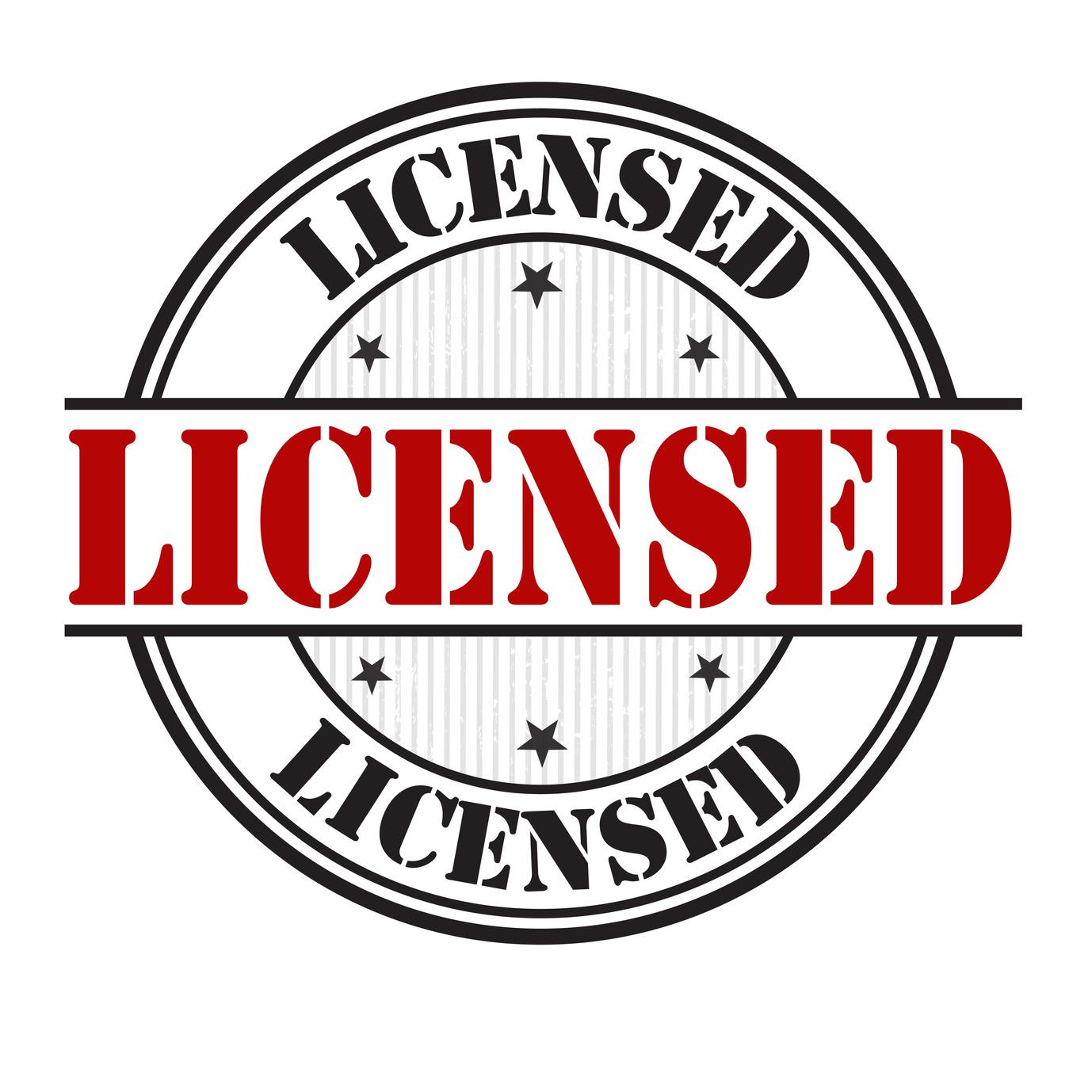 Licensed sign or stamp
